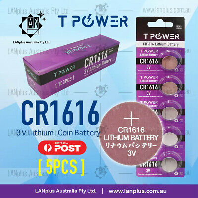 5 x CR1616 3V Lithium Battery STOCK IN Melbourne Button Coin Cell CR-1616