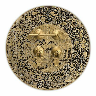 CBH MOUNTAIN SCENERY Chinese Brass Hardware 9.5""