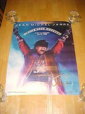 JEAN MICHEL JARRE A City in Concert 4-5-1986 Houston Texas Signed Gold Poster