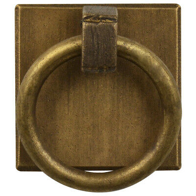"Brass Ring Plate Pulls 1.25"" - Set of 2"