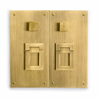 CBH Chinese Brass Hardware Square Plate - Set of 2