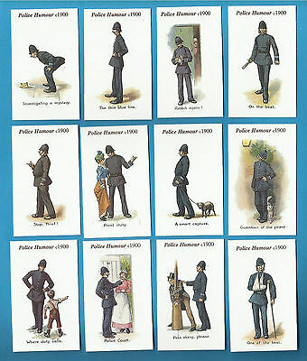 Faulkner Cigarette Cards - POLICE HUMOUR - Full mint condition set