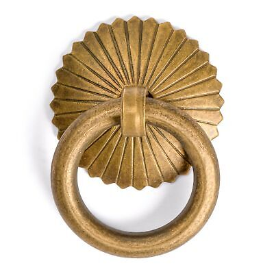 "CBH RING Chinese Brass Hardware Pulls 1.2"" - Set of 2"