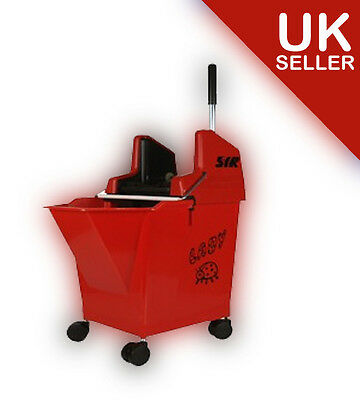 RED Kentucky Mop Bucket and Wringer, SYR Ladybug with portion control 15 litre