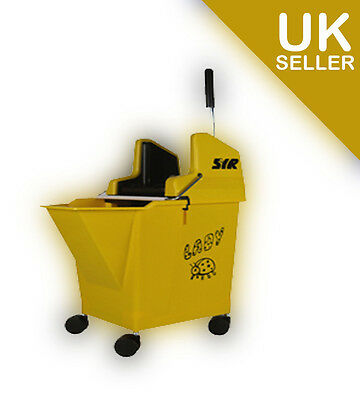 YELLOW Kentucky Mop Bucket & Wringer, SYR Ladybug with portion control 15 litre