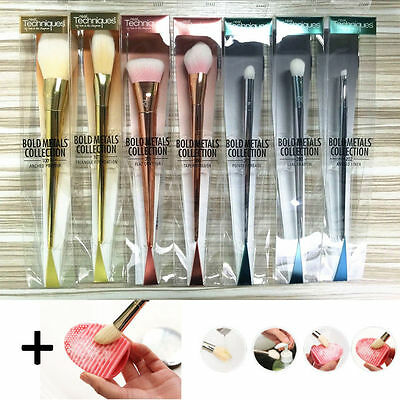 REAL TECHNIQUES Make up Brushes Bold Metal Blush Set 7pcs Full Kit Collection