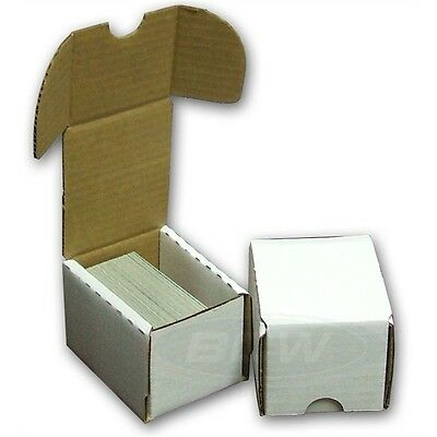 Lot of 100 BCW 100 COUNT BASEBALL TRADING CARD CARDBOARD STORAGE BOXES