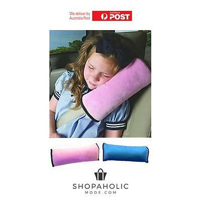 Childrens Plush Head Neck Travel Car Seat Belt Snooze Pillow Cushion Cover