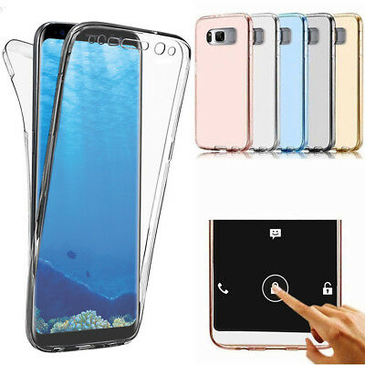 Slim 360° Clear TPU Case Shockproof Cover For Samsung Galaxy S7 / S8 / S8 PLUS