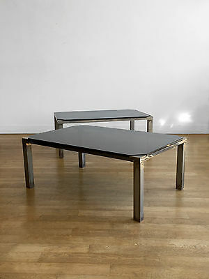 1970 2 Table Basse Art-Deco Bauhaus Moderniste Constructiviste Space-Age