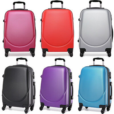 Kono Travel Luggage Cabin Hard shell 4 Wheel Trolley Hand Luggage Suitcase 20''