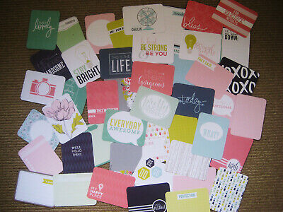 "'HAPPY PLACE' PROJECT LIFE CARDS BY BECKY HIGGINS -3"" X 4"" -50 cards"