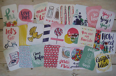 "'better Together' Project Life Cards By Becky Higgins - 3"" X 4"" - 25 Cards"