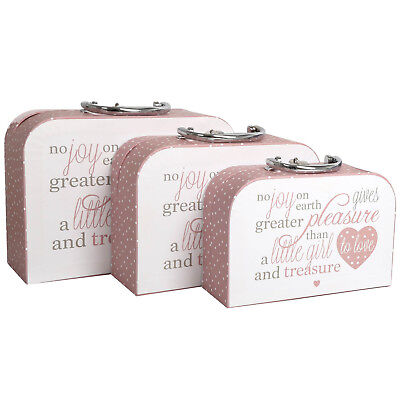 Set of 3 Baby Bottle Poem Travel Handheld Carry Cases Storage Container Pink New