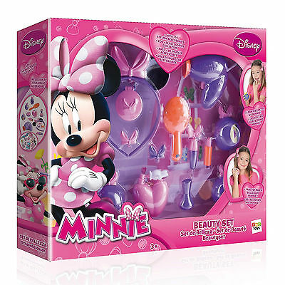 Disney Minnie Mouse Beauty Set Toy Hairdryer Makeup Hair Band Comb Perfume New