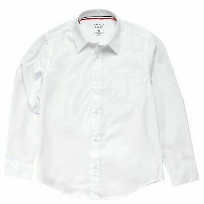Boys French Toast Button Down Long Sleeve Dress/School Uniform Shirt White