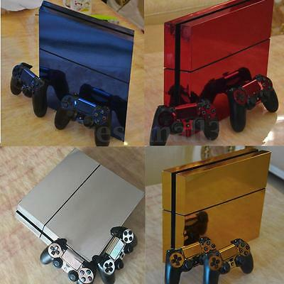 NEW Glossy Vinyl Decal Skin Sticker for PS4 Playstation 4 Console& 2 Controllers