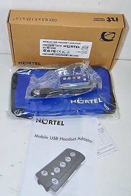 Nortel Avaya NTEX14MAE6 Mobile USB Headset Adapter IP Softphones