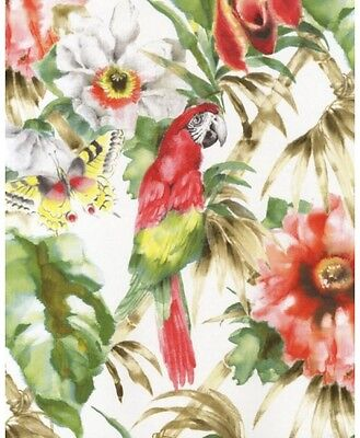 PA34244 - Paradise Parrots Beige, Green & Red Wallpaper FREE shipping