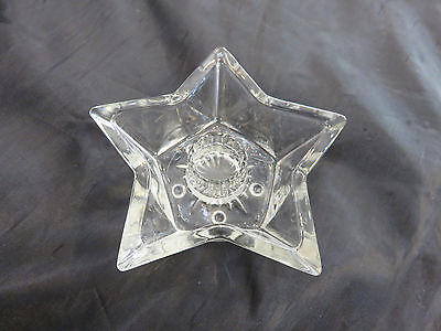 Clear STAR SHAPED CANDLE HOLDER *Vintage*  GREAT SHAPE
