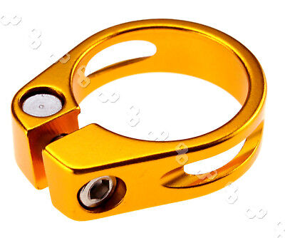 Clearance 31.8mm Cycling Mountain Seat Clamp Alloy Quick Release BMX MTB GOLD
