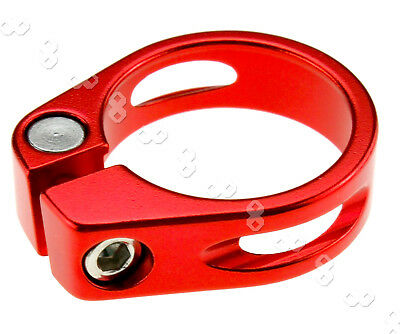 Clearance 31.8mm Cycling Mountain Seat Clamp Alloy Quick Release BMX MTB (RED)