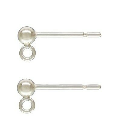 Solid 925 Sterling Silver Ball Earring Posts - best quality - Free delivery
