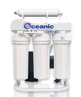 Oceanic Light Commercial Reverse Osmosis Water Filter System 200 GPD Pump USA