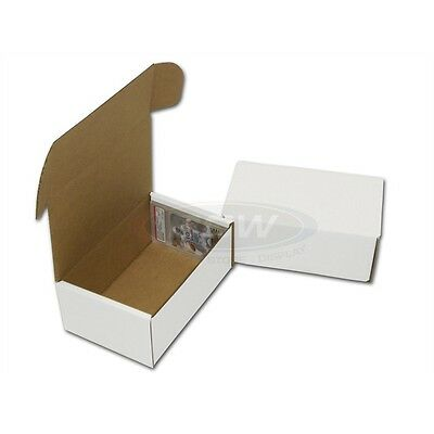 Lot of 100 BCW Corrugated Cardboard Graded Baseball Trading Card Boxes