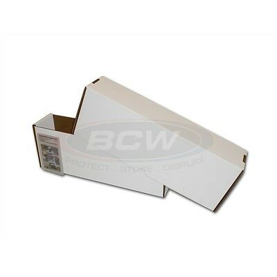 Lot Of 100 Bcw Super Vault Graded Card Storage Boxes Corrugated Cardboard Box