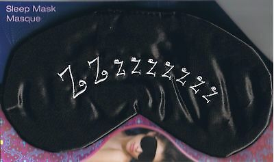 Zzzzzzzzz - BLACK SATIN SLEEP MASK  - NEW - GREAT FOR MIGRAINE SUFFERERS