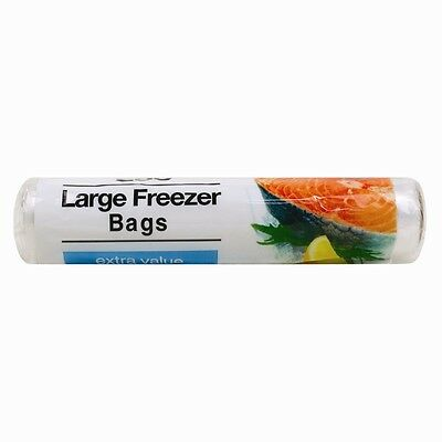 250 Strong Large Food Freezer Storage Bags Roll 30cm x 22cm