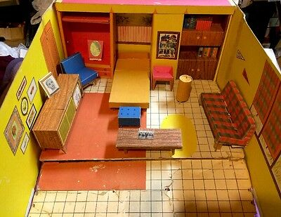 Vintage 1962 Mattel Barbie- Dream House>Loaded with accessories! ORIGINAL COOL
