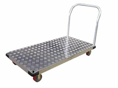 "Aluminum Platform Truck Diamond Deck  24""x48"" Poly Caster Set 2400Lbs. Cap. New"