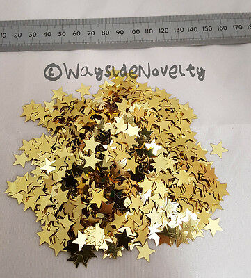 Confetti Sparkling Star Gold Large 20 Grams Party Fancy Dress Table Decoration