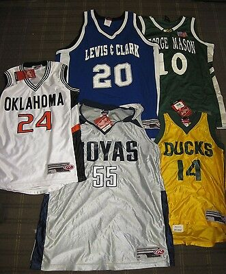 Lot of 5 NEW Basketball Jerseys - Various Teams, Sizes, & Colors