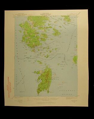 Deer Isle Maine 1959 vintage USGS Topographical chart map