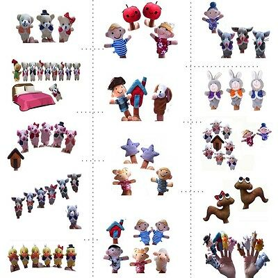 Soft Rhyme Nursery Plush Finger Puppets Story Telling Toy Baby Children Kid Gift