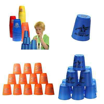 Set 12Pcs Speed Stacks Cups Sports Rapid Fast For Home Competition Game