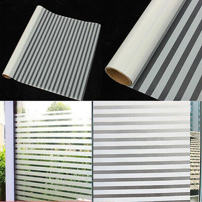 2M Self Adhesive Waterproof Frosted Privacy Bathroom Window Glass Film Sticker