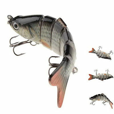6 Segment Fishing Lure Swimbait Crank Baits Hard Bait Slow Fish Hook Tackles