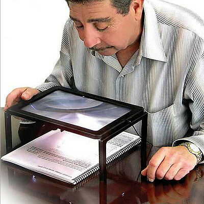 Full Page Reading Hands Free Magnifier 3X For Grandparents With LED Light