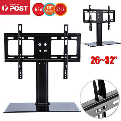 "Slim 26-32"" Universal LCD LED Plasma VESA Wall Mount TV Stand Bracket Desktop"