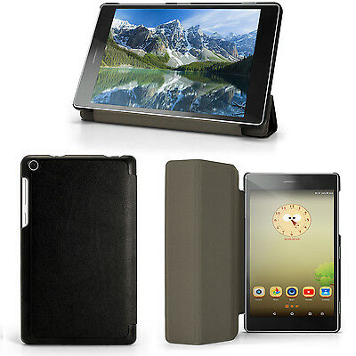Black PU Leather Smart Case for LENOVO TAB 3 7'' 2016 Cover + Screen Protector
