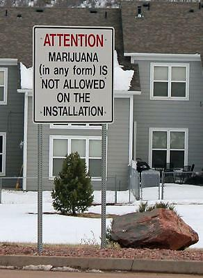Old Photo.  Funny Sign - MARIJUANA IS NOT ALLOWED...