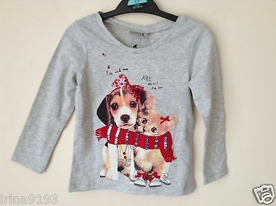 Next SP Girl`s Baby Grey Top T-Shirt Long Sleeve Size 12-18,3-4yrs