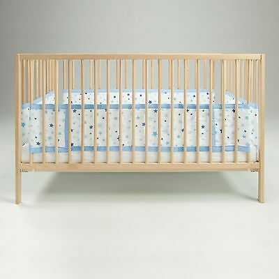 Airwrap Blue Stars Mesh 4 Sided Baby Cot / Cotbed Bumper With Maximum Airflow