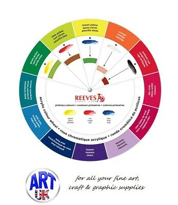 Reeves Acrylic Colour Wheel - Artist Paint Mixing Guide essential designers tool