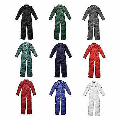 Dickies Mens Redhawk Zip Front Work/Garage Overalls/Coverall/Boiler Suit WD4839