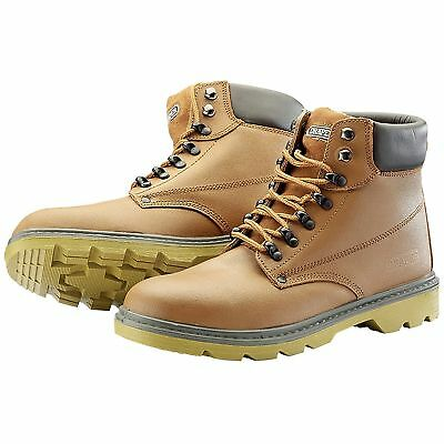 Draper Work Wear S1P Tan Safety Boots with Metal Toecap And Mid-Sole - 0864
